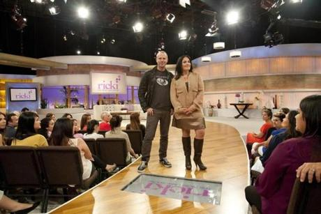 """It'll be everything we covered on my old show but from a little bit of a deeper place,"" says Ricki Lake (with Anton Goss, the show's production designer) of her new talk show."